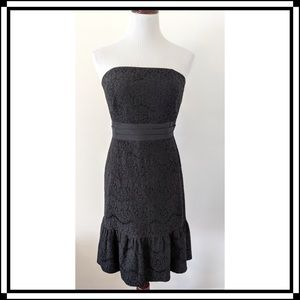 Like NEW!! WHBM Black Lace Cocktail Dress Size 12